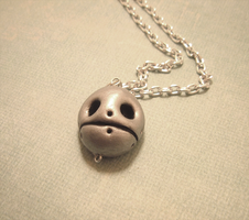 Bolted Skull Pendant by SweetButEvil