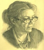 Portrait of my Mom by Ezekiel-Black