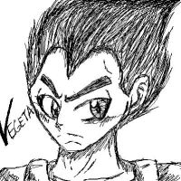 Vegeta Sketch by EsorWolf