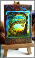 ACEO A is for Autumn by CelynsCorner