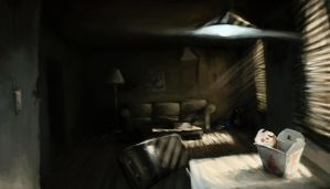 dirty apartment concept by opengraphics