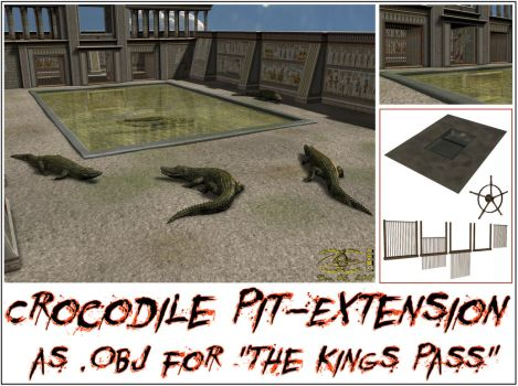 Crocodile Pit-Extension as OBJ for The Kings Pass by ancestorsrelic