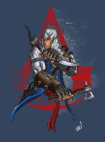 Connor Assassin's Creed by SpideyCreed