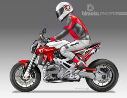 BIMOTA BB-4S Cafe Fighter Concept # 8 RIDER by obiboi