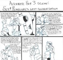 Sly and Penelope's last conversation by brensey