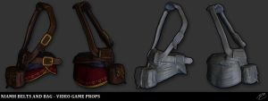 Niamh Belts and Bag - Video Game Props by Akiba91