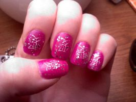 Konad Nail design LOVE by AngelElementsEtsy