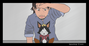 Reeve and Cait Sith by bad-exposition