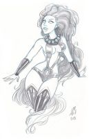 Daily Sketches:  Starfire2 by mainasha