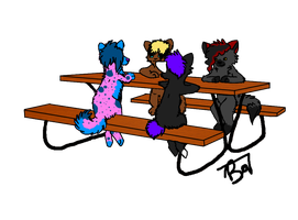 Sit'n at a table by CactusFruits