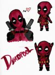 Deadpool Sketches :D - Copic Marker Practice by ImALoneRedRover