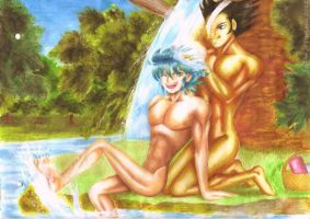 Cowboyshipping - At South Academia's Hot Springs by Zephyr-of-Darkness