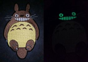 Totoro Glow in the Dark Embroidered Patch by Spaceguy5
