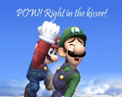 Pow, Right in the kisser by Masterluigi452