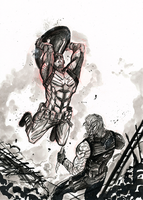 Captain america vs winter soldier by Ultrafpc