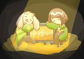 Asriel and Chara's Theory of Happiness by EnderCursty