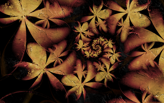 scorched stone flowers by Dylananana