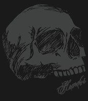 Sketchy Skull by HammerSection