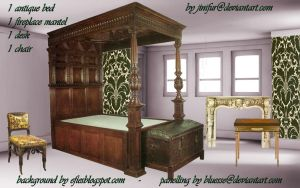 Antique furniture in png 5 by jinifur