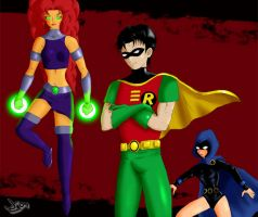 The New Teen Titans by wingzero620