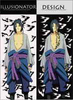 sasuke curse seal by Illusionator