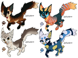 Bird themed canines - AUCTION (CLOSED) by SwarThylacine-Adopts