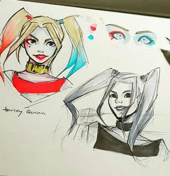 Harley Quinn Sketch!! by TrinityScars