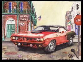 New orleans Cuda by FastLaneIllustration