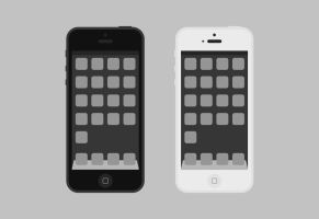 flat iPhone psd by artlambi