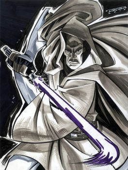 Sketch::Mace Windu by KharyRandolph