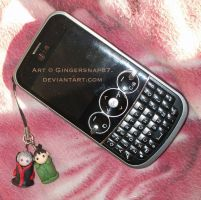 HidaShika Phone Charms by Gingersnap87