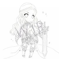 W.I.P: NPC in Perfect world : Light by sparkle-japen