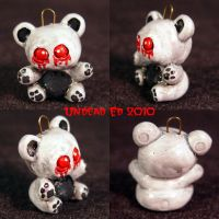 Ghost Bear Charm ooak by Undead-Art