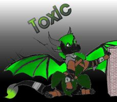 Toxic in battle armor by NutmegFluff