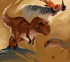Dinosaur practice by TheRisingSoul