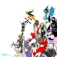 X-Over: Video Game Ninjas by cyril002