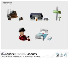 Elm Nightmare Street web Icons by Iconshock