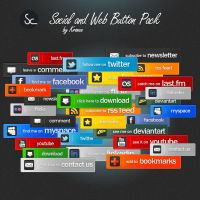 Social and Web Button Pack by KronenDesign