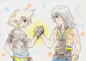 Sora and Riku- Forever Friends by Gkenzo