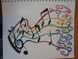 music tattoo idea by Ray-of-Moonshine