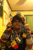 wearing all kandi from trades by ninjalove134