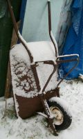 Snowy Wheelbarrow I by Jenna-RoseStock