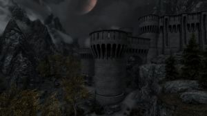 Fort Dawnguard by Night by lupusmagus