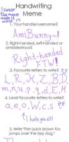 The Handwriting Meme~! by AmiBunny