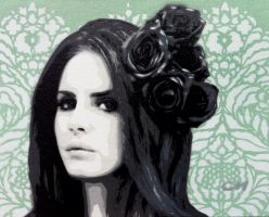 Lana del Rey II by Stencils-by-Chase