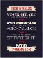 Proverbs 3:5-6 - Poster by mostpato