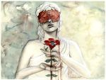 Aphrodite, Adonis and the blood red Anemone by axellie