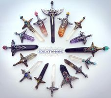 February Crystal Sword Charms - IDEATIONOX by Ideationox