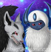 .Friendship: Mightyena and Absol .semi realistic. by Freaky--Like--Vivi