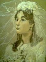 my grandmother at her wedding by VMSS19